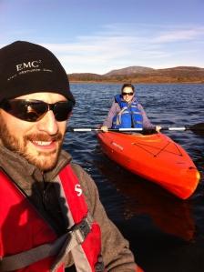Joe and I kayaking