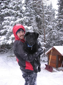 He still lets Joe pick him up like this….only he is a lot heavier now!