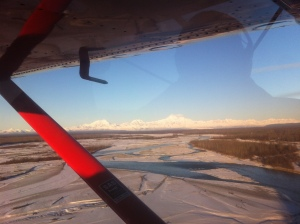 Flying into Talkeetna, the Alaska Range with the beautiful Mt. Mckinley